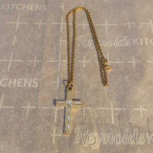 Avon gold cross necklace